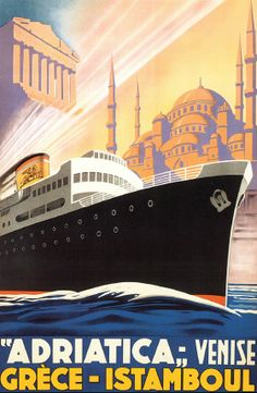 Vintage Old Transport Poster Orient Line Norway Print Art A4 A3 A2 A1