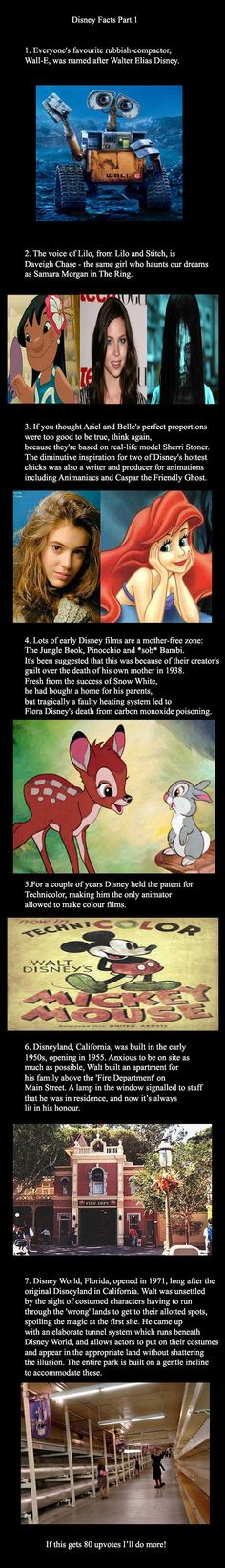 A few interesting Disney facts ----- Someone I knew worked at Disney and told me about the tunnels. Neat.