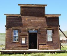 ABANDONED UNION HALL in a real ghost town somewhere in California. The problem: many union buildings still in use look only marginally less haunted. Bodie California, Real Ghosts, Left Alone, Ghost Towns, Wild West, Abandoned, Shed, Buildings, Mansions
