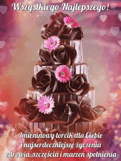 Birthday Wishes, Happy Birthday, Learn Polish, I Wallpaper, Beautiful Roses, Cake Decorating, Pictures, Courses, Photography