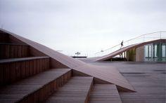Maritime Youth House - JDS ARCHITECTS, BIRCH & KROGBOE   - undulating wooden deck