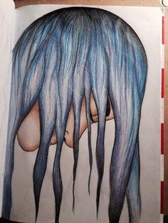 Drow, drowing, derpdrow, art, artist, artmood, artlife, drowlife, hair, color, colorful, beautiful