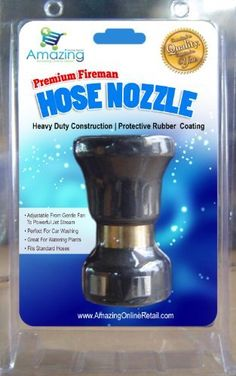 AOR POWER (TM) Heavy Duty Adjustable Water Nozzle Great For Boats, RV's, Heavy Equipment Cleaning, Truck Washing, Lawn and Garden Water Hose Nozzle, Heavy Duty, High Strength Aluminum to Water Garden, Clean Your Property - Protect, Nurture, Clean Your Valuable Investments with the Premium Fireman's Water Hose Nozzle - Shoots Water up to 40 Feet, or a Gentle Flow. Fireman Type Garden Water Hose Nozzle, High Strength Water Nozzle That Adapts to Standard Garden Hoses. AOR POWER…