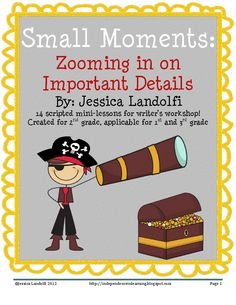 Small Moment Scripted Unit.  14 lesson plans!  Amazing!