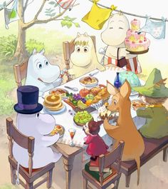 Moomin for Cindy. >>> Not an original Tove Jansson work, but well drawn for all that.