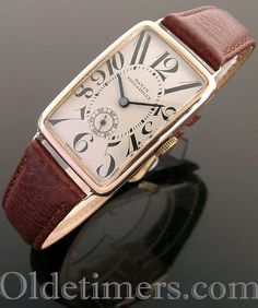 1930s 9ct rose gold rectangular vintage Davis watch (4056)
