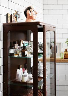 Beautiful storage by Tina Hellberg.  Minimal Scandinavian, Interiors, Bakers, Tiles, Bathroom