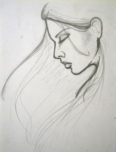 simple pencil sketch portraits and easy portrait drawing - simple pencil drawing pictures Easy Pencil Drawings, Pencil Drawing Pictures, Easy Drawings Sketches, Girl Drawing Sketches, Pencil Sketch Drawing, Girl Sketch, Drawing Tips, Drawing Ideas, Olaf Drawing