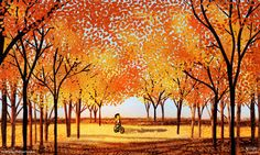 Growing up in southern California I wasn't aware of the changing of the seasons. I moved to northern California, and although some say its the same, it was the first experience I had of leaves changing, crispy cold air and months of rain. I fell in love with autumn and celebrate my love for the season through my artwork.