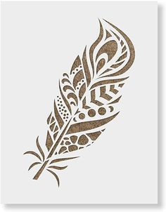 Peacock Feather Stencil Template for Walls and Crafts - Reusable Stencils for Painting in Small & Large Sizes Printable Stencil Patterns, Stencil Templates, Printable Designs, Stencil Designs, Feather Stencil, Feather Drawing, Feather Art, Peacock Feathers Drawing, Feather Template