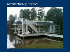 Great Architect Designed Boathouse with roof-top deck and bar