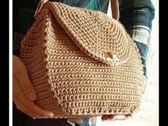 الجزء الثاني هدية أمي في عيد الأم شنطة كروشيه من صنع ايديا - YouTube Crochet Videos, Handmade Bags, Mini Bag, Winter Hats, Crochet Bags, Mousse, Accessories, Baskets, Florida