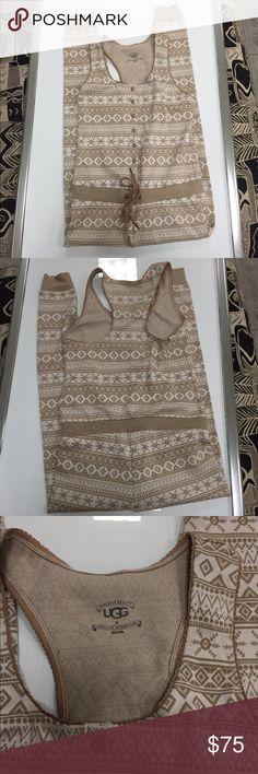 Ugg onesie pajama size medium Ugg Australia onesie pajama size medium new without tags so cute and perfect for this holiday season UGG Pants Jumpsuits & Rompers