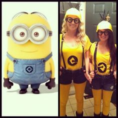 Minions Halloween costume - Me and Mackinley? Minion Halloween Costumes, Halloween Fancy Dress, Halloween Kostüm, Holidays Halloween, Diy Costumes, Costume Ideas, Diy Minion Kostüm, Minion Party, Minions Fancy Dress