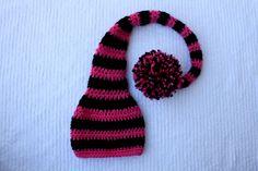 Crochet hat pattern - Munchkin/Elf Hat
