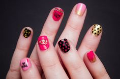 We Heart Nail Art: 20 Valentine's Day Manis to Fall For via Brit + Co