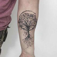 New Ideas Life Tree Tattoo Ideas Tattoo Dotwork, Hamsa Tattoo, Diy Tattoo, Tattoo Life, Forearm Tattoos, Body Art Tattoos, New Tattoos, Small Tattoos, Tree Of Life Tattoos