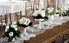 Wedding Table Runner Ideas | Intimate Weddings - Small Weddings / Maybe my mother would be so kind?