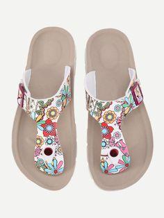 Shop Flower Print Flip Flops online. SheIn offers Flower Print Flip Flops & more to fit your fashionable needs.
