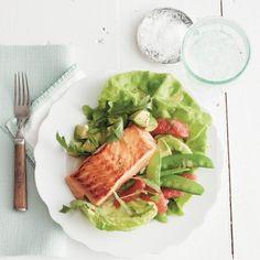Salmon salad with grapefruit and snow peas recipe - Chatelaine.com