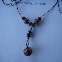 Collier sautoir inspiration ethnique en perles