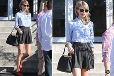 Taylor Swift out shopping with her mum