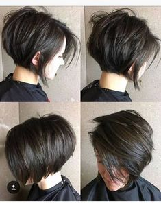 Short Layered Brunette Bob bob haircuts with layers thick hair 70 Cute and Easy-To-Style Short Layered Hairstyles Short Bob Haircuts, Hairstyles Haircuts, Cool Hairstyles, Layered Hairstyles, Pixie Bob Haircut, Pixie Bob Hairstyles, Short Dark Hairstyles, Short Hair With Undercut, Medium Hairstyles