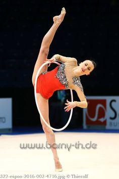 Ganna Rizatdinova (Ukraine) won gold in hoop at World Cup (Espoo) 2016