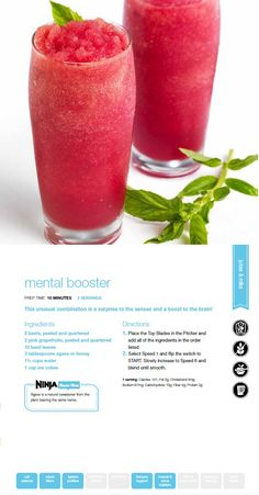 Get those creativity juices flowing with our Mental Booster Smoothie using the Ninja Ultima