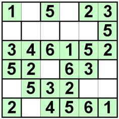 Number Logic Puzzles: 19850 - Bricks size 6