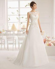 Vestidos de novia con falda en corte A: El mejor invento para definir tu silueta y hacerla perfecta Image: 21