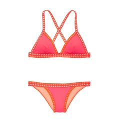 Victoria's Secret Crochet-Trim Teeny Triangle Top and Cheeky