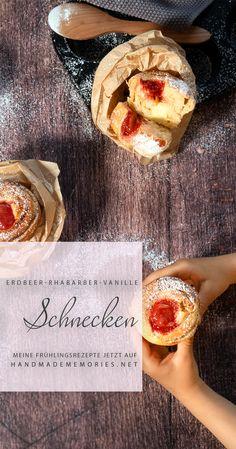 Mein frühlingsfrisches Lieblingsrezept. Auf meinem Blog warten viele saisonale Inspirationen auf euch! Vanille Paste, Camembert Cheese, Sweet Treats, Blog, Strawberries, Pudding Recipe, Vanilla Cream, Waiting, Snails