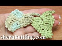 How to Crochet Two-Side Leaf Work In Back Loops Tutorial 3 - YouTube