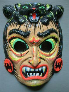 Retro Halloween, Halloween Horror, Halloween Costumes, Monster Mask, Antique Toys, Horror Art, Vintage Costumes, Favorite Holiday, Monsters