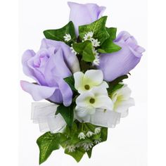 Lavender Silk Rose Corsage ($7.99) via Polyvore