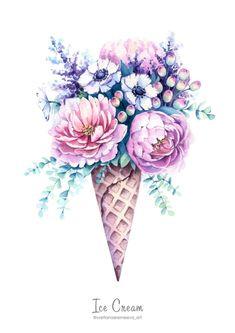 Flower Art, Art Flowers, Art Drawings Sketches, Photo Art, Wall Art Prints, Watercolor Paintings, Digital Art, Clip Art, Beautiful Flower Drawings
