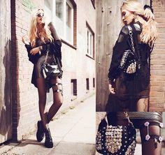Black Milk Clothing Dress, Regal Rose Earring, Romwe Bag, Creepy Little Girl Gartner, Shoptimeless Jacket