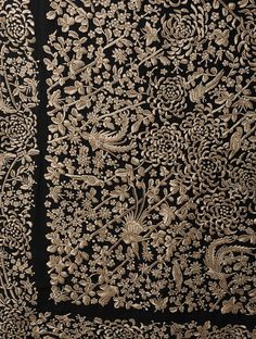Buy Black Chrysanthemum Jaal Crepe Silk Parsi Gara Saree Online at Jaypore.com