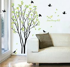 Decals Decor Art Removable Huge Birds Sing On the Tree Wall Stickers High quality Family Wall Decals Quotes Wall Decals Target, Removable Vinyl Wall Decals, Bird Wall Decals, Tree Decals, Family Tree Wall Decal, Wall Stickers Home Decor, Tree Wall Art, Nursery Wall Decals, Family Wall