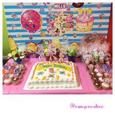 Here is our Shoppies birthday party decorations. @shopkinsworld #shoppies #shopkins #party #birthday #fun #art #creative #activity #homemade #diy #craft #decoration #cake #colourful
