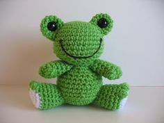 Amigurumi Frog by djonesgirlz, via Flickr