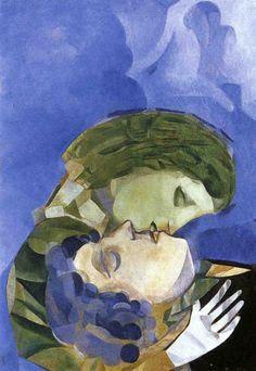 Marc Chagal - Les amoureux - 1916