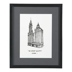 $69.95 Cityscape Chicago Print (For a Black, Gray, Yellow, White, Cream Room - Living Room or Bedroom?)