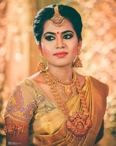 "1,428 Likes, 2 Comments - Photraits (@photraits) on Instagram: ""Impeccable make-over and the bride's choice of jewel combo is definitely brilliant! Follow us for…"""
