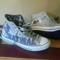 Batman converse Batman hightops converse mens size 7 women 9 Converse Shoes Sneakers
