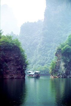 Scenery at Baofeng Lake in Zhangjiajie resort(张家界宝峰湖), China's Hunnan Province. via Discover Hunan