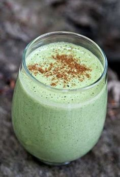 Apple Cinnamon Smoothie - I make this a couple times a week for my husbands breakfast.