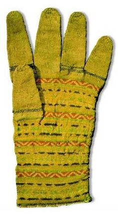 A woman's glove, made about 1556. Worn as a favor in battle by Captain Sten Svantesson Sture in 1565 and thought to be given to him by Princess Sofia of Sweden.