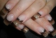 Gold to Cocoa Nail Designs. This is awesome for fall